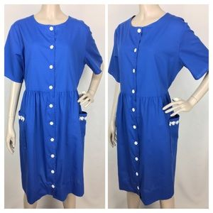VTG BLAIR Button-down House Dress size medium
